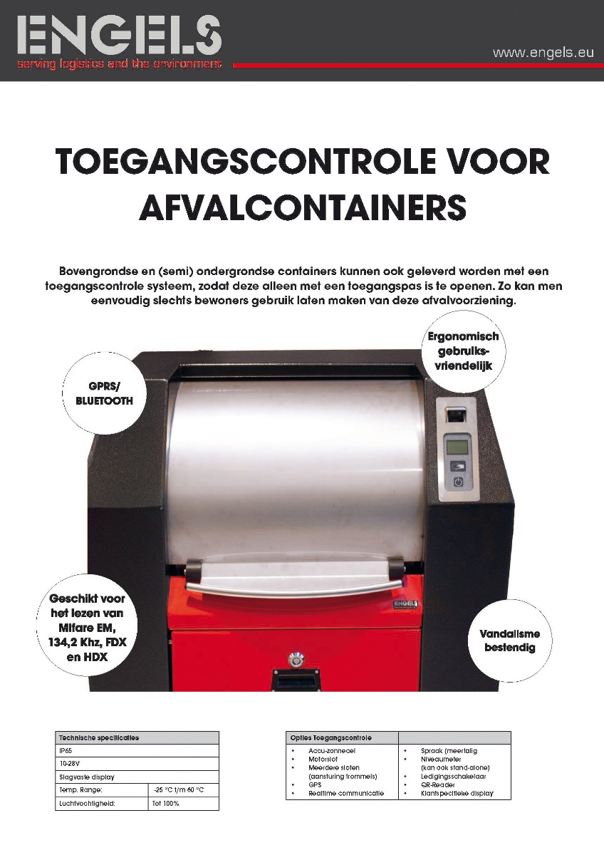 Toegangscontrole voor afvalcontainers